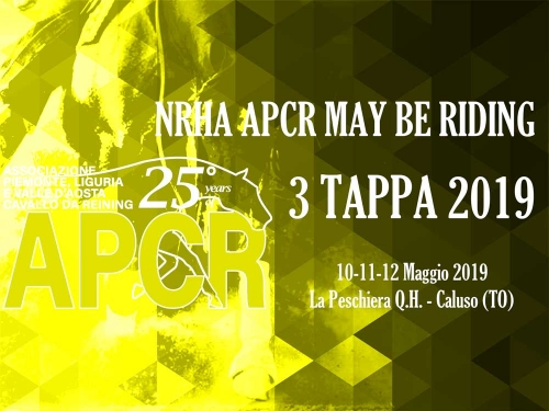 NRHA APCR MAY BE RIDING 2019