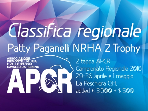 Classifica regionale dopo la 2 tappa APCR 2016