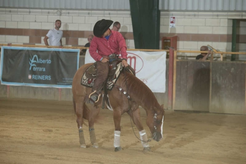 NRHA APCR SEPTEMBER SPINNING SPURS 2019 - FRANCESCATO DANIELE & AB MADE MY WHEELING score 72