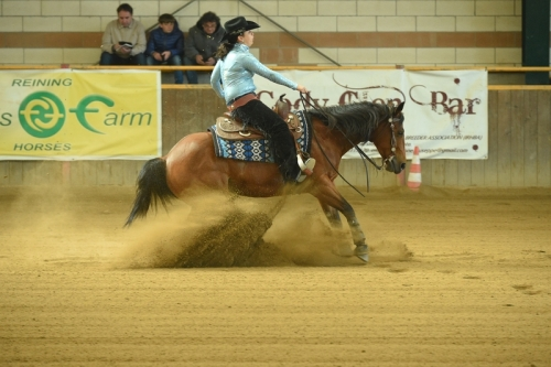 NRHA APCR MAY BE RIDING 2019 - SILVESTRI ALEXANDRA JOSIE & RS DALI OLENA score 69,5