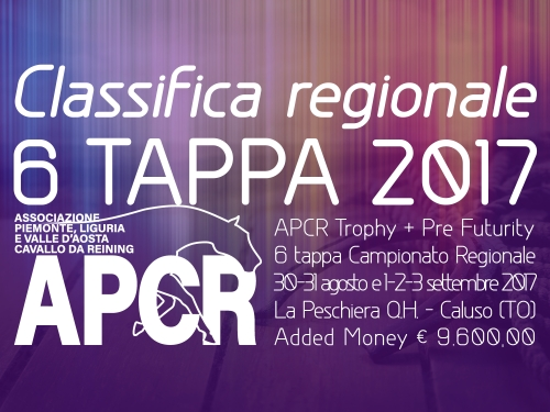 Classifica regionale dopo la 6 tappa APCR 2017