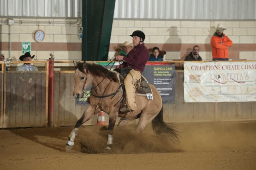NRHA APCR APRIL CIRCLES 2019 - MUSERRA PAOLO & DOCS JAKE AGAIN score 65