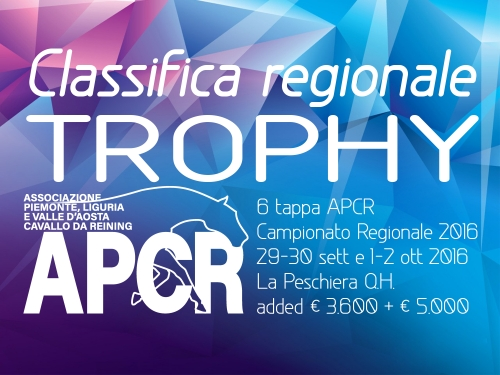 Classifica regionale dopo la 6 tappa APCR 2016