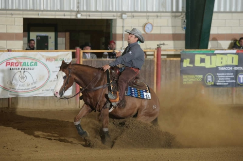 NRHA APCR APRIL CIRCLES 2019 - FRANCESCATO DANIELE & SPICY JABA score 74