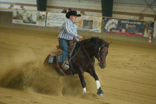 NRHA APCR MAY BE RIDING 2019 - SCHOPFER MARKUS & JOKIN WHIZ score 72,5